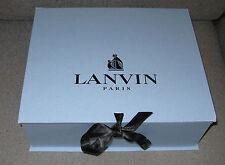 """AUTHENTIC LANVIN Paris Classic Blue Empty Box with Ribbon 12.25""""x10.25""""x4"""""""