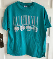 Vintage 90s California Sea Shells Puff TEE Shirt Adult Hanes Beefy T Size XL USA