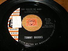 TOMMY BROOKS - SHE CALLED ME BABY - LOVESICK    / LISTEN /  R&B POPCORN