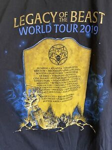 Iron Maiden Legacy Of The Beast USA & South America Tour T Shirt XL 2019