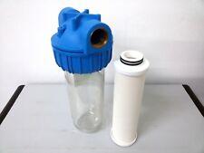 """Filtro acqua 3/4"""" con Cartuccia in ceramica da 0 45mcr Serie BX 10"""" Atlas Senior"""