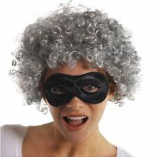 Adult Teacher Gangster Gangsta Granny Grey Wig Bandit Mask Fancy Dress Book Week