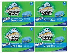 4 Scrubbing Bubbles VANISH DROP INS Toilet Bowl Cleaner Tablets Repels Lime NEW!