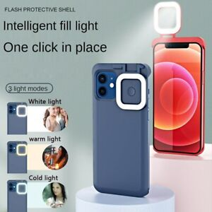 Fill Light LED Selfie Live Protective Bumper Phone Case For iPhone 12/12 Pro Max