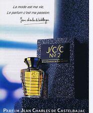 PUBLICITE ADVERTISING 094 1989 JEAN CHARLES DE CASTELBAJAC N°2 eau de parfum