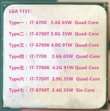 Intel Core I7-6700 I7-6700T I7-6700K I7-7700 I7-7700K I7-7700T I7-8700T CPU