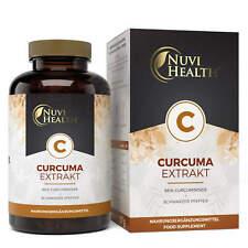 Curcuma Extrakt - 100 Kapseln á 500 mg - 98% Curcumin - Vegan - Laborgeprüft
