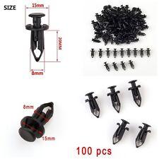 Pack of 100Pcs 8mm ATV Retainer Clips Push Pin Splash Guard Body Panel For Honda