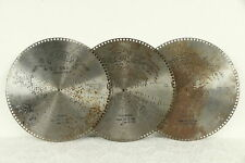 """Regina Music Box Group of 3 Antique 15 1/2"""" Disks The Holy City & More #30752"""