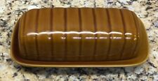 Vintage Unbranded Brown Butter Dish Farmhouse/honeycomb