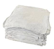 100 New Industrial Shop Rags Cleaning Towels White Large 12x14 Towel B-Grade