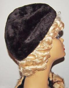 Fur Beaver Hat SAKS FIFTH AVENUE ITALY Sigma-Zephyr Ladies Vintage