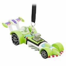Disney Store Pixar Toy Story Buzz Lightyear Racer Car Christmas Ornament Figure