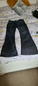Next Black Flare Jeans Size 12 Xl