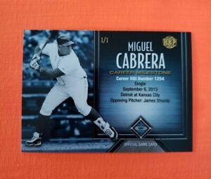 2017 Honus Bonus Fantasy Baseball Milestones #84 Miguel Cabrera RBI 1254 1/1