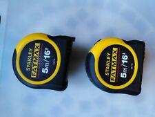 2 brand new Stanley FATMAX 5M tape measures.