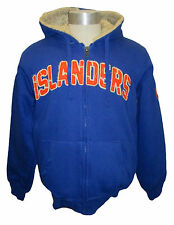 New York Islanders Men's Blue Full-Zip Heavy Sherpa Lined Hoodie NHL Size S-L
