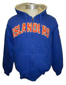 New York Islanders Men's Blue Full-Zip Heavy Sherpa Lined Hoodie NHL Size S-L