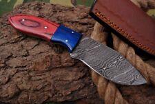 MH KNIVES CUSTOM HANDMADE DAMASCUS STEEL FULL TANG HUNTING/SKINNER KNIFE D-73K