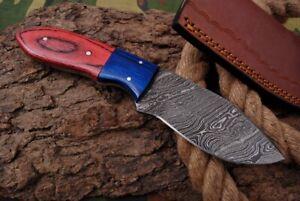 MH KNIVES CUSTOM HANDMADE DAMASCUS STEEL FULL TANG HUNTING/SKINNER KNIFE D-73