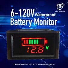 6v 12V 24V 36V Battery Capacity Waterproof Voltmeter Monitor LED Battery Tester