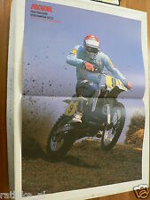 A221-HEINZ KINIGADNER 250 CC 1986 CHAMPION MX CROSS POSTER ARAI,SCOTT,BREMBO