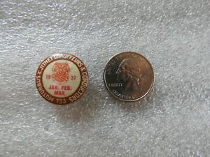 """1936 CHICAGO LOCAL """"733 MOTORBUS & JITNEY CHAUFFEURS & CONDUCTORS"""" Teamsters PIN"""
