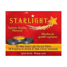 STARLIGHT Charcoal 40 mm Premium Hookah Incense Round Charcoal Coals 100 Count