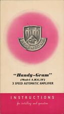 More details for handy gram model a.h.g.3f 3 spped auto amplifier instructions vintage a4.1293