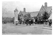 pt0992 - Didsbury Railway Station & Memorial , Lancashire - photo 6x4