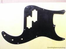 Precision Bass Guitar Pickguard 3 Capas Negro Cero Placa de Pick guard Pb bwb-b
