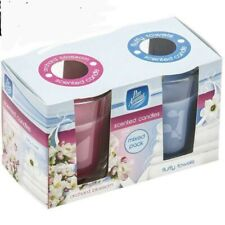Double Pack Glass Pot Candles - Orchard Blossom & Fluffy Towels
