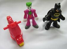 Fisher Price Imaginext Figure SF Joker Laff Factory Joker Batman w/Cape Scooter