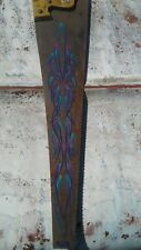 Custom Pinstriped Vintage Saw 4 Color Fade   Low Brow 1 Shot Mancave Rat Rod