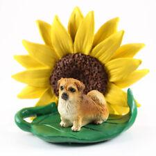 Tibetan Spaniel Sunflower Figurine