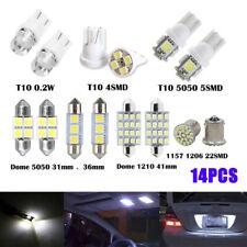 14x Combo LED Car Interior Inside Light Dome Map Door License Plate Lights White