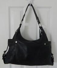 FOSSIL Vintage XLarge BLACK Butter soft Leather Hobo Shoulder Bag