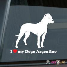 I Love My Dogo Argentino Sticker Die Cut Vinyl - v2
