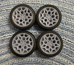 Resin Pontiac Honeycomb style model car wheels, 1/24 1/25 scale;