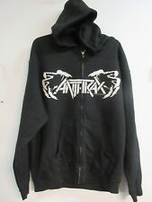 NEW - ANTHRAX METAL BAND / CONCERT / MUSIC ZIP UP HOODIE SWEATSHIRT LARGE
