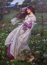 """J. W. WATERHOUSE - WindFlowers - *FRAMED* CANVAS ART 24x16"""" - Wind Flowers"""