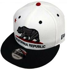 New Era California Republic White Black Snapback Cap 9fifty 950 Limited Edition