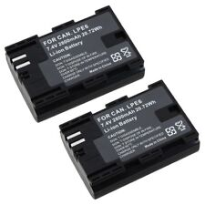 2 Pack Decoded LP-E6 LPE6 Battery For Canon EOS 60D 7D Camera