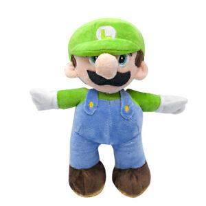 Super Mario Bros Luigi Plush Doll Plushie Stuffed Animal Soft Toy 10 inch Gift