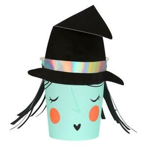 MERI MERI HALLOWEEN Witch Party Cups (8 Pack)