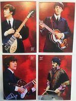 2018 The Beatles: JOHN, PAUL, GEORGE & RINGO, Red Background Artist signed #3/5
