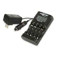 ANSMANN Powerline 4 Professional Battery Charger for AAA, AA, USB, 1001-0005-US