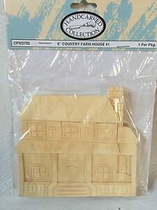 Unfinished wood Country Farm House #5  six inch