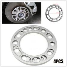 4*6MM Car Hub Wheel Spacers Shim Alloy Widen Plate 5/6 Stud Brake Caliper Silver