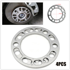 4*6MM Car Hub Wheel Spacers Shim Alloy Widen Plate 5/6 Stud Brake Caliper Silver